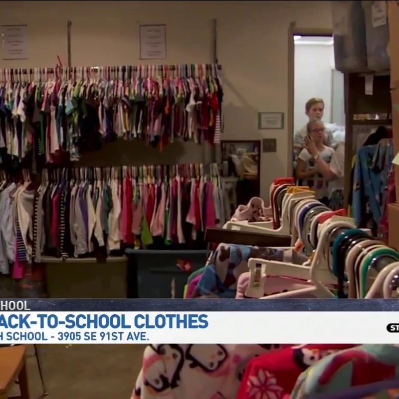 Pta Clothing Center Helps Portland Public Schools Students In Need Katu