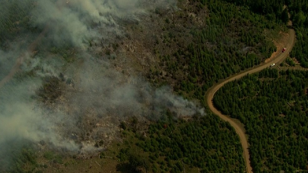 5-acre fire burning outside McMinnville in Yamhill County   KATU
