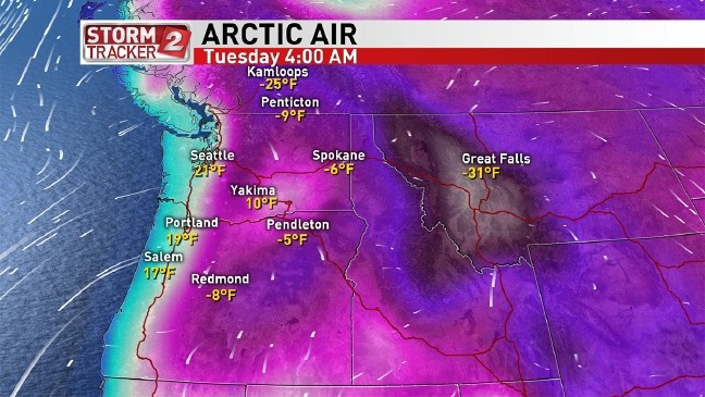 Arctic air bringing another week of freezing temps to Oregon