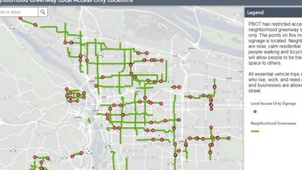 traffic map portland oregon Some Portland Streets Close To Through Traffic To Allow More Room traffic map portland oregon