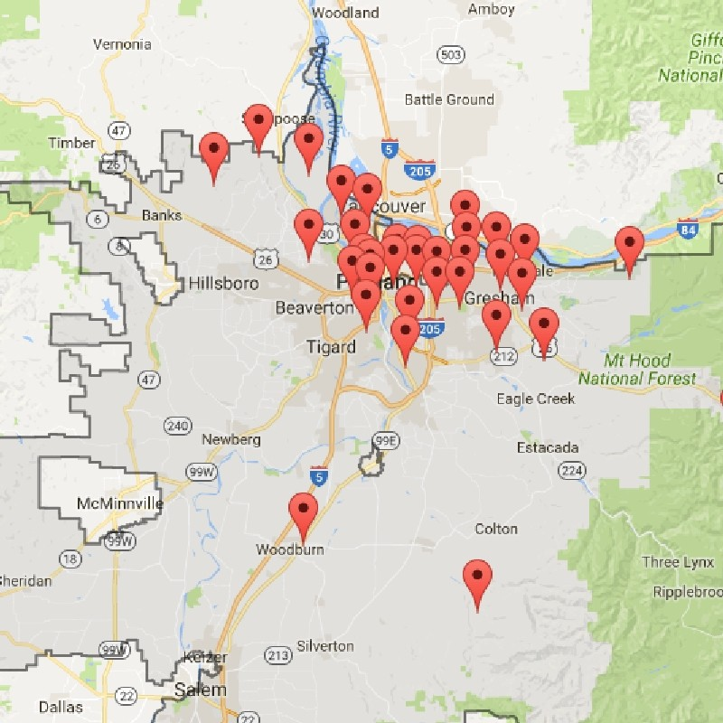 Power Outage Map Oregon Power outages in the Portland area   KATU