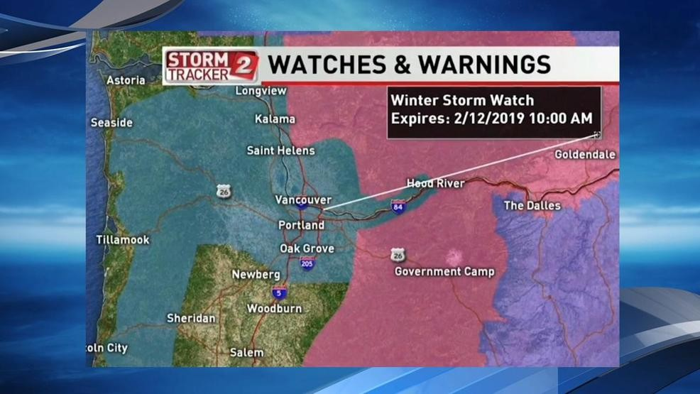 Winter Storm Watch' issued for Portland metro area overnight Monday on portland traffic, wftv traffic, wkyc traffic, abc news traffic, san clemente traffic, koin traffic, kgw traffic,