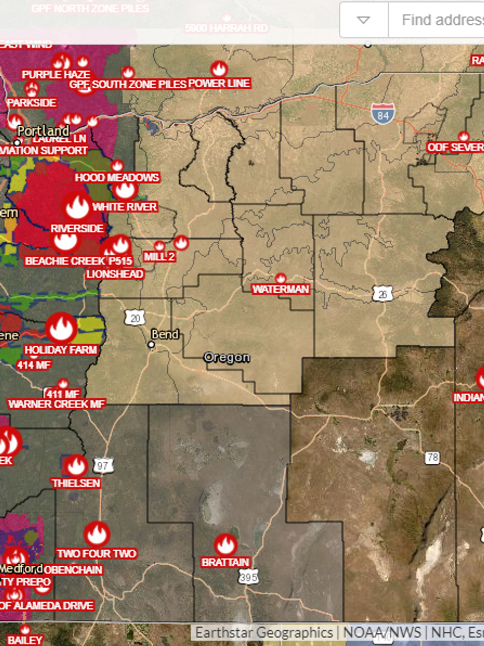 Oregon Fire Map Current Interactive map shows current Oregon wildfires and evacuation