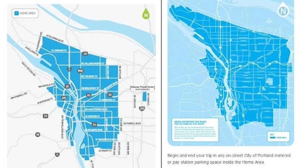Car2go Changes Home Location Cuts Out St Johns East Portland Katu
