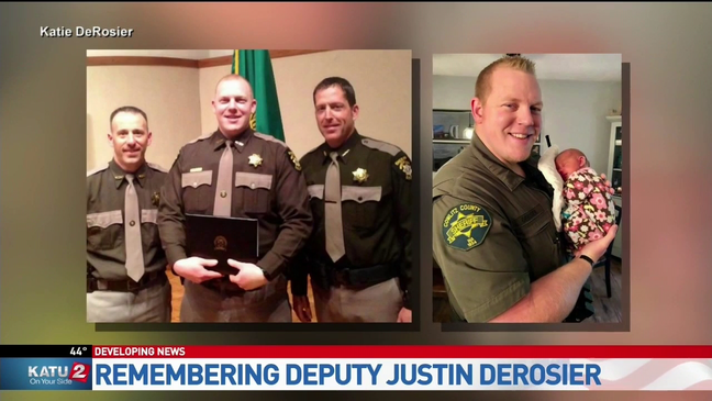 Memorial service announced for Cowlitz Co  Deputy Justin