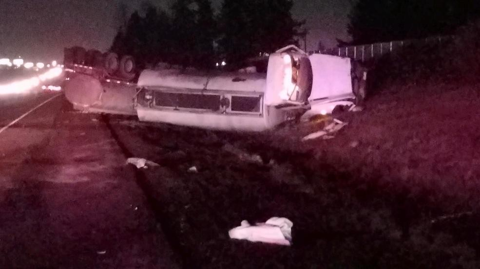 All lanes of I-5 South reopen near Keizer following tanker
