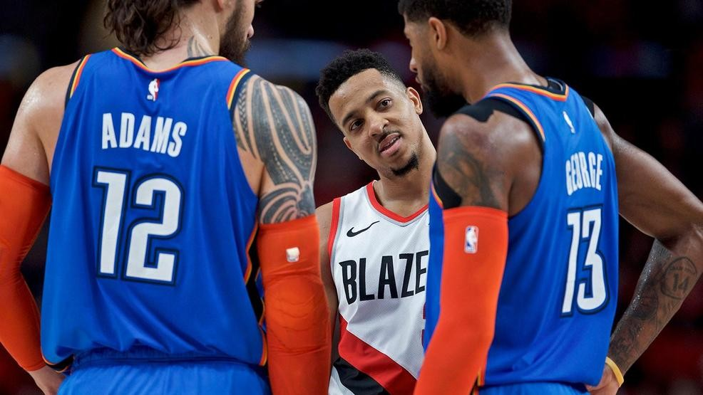 ae4b6bbbfdc Blazers go up 2-0 against the Thunder with 114-94 win