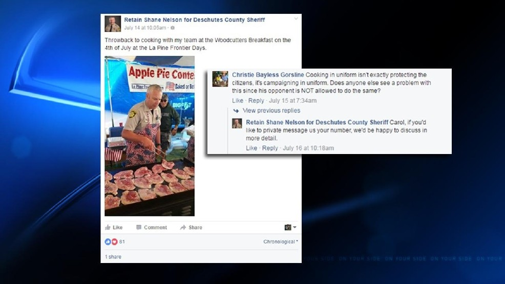 Out-of-towner's Facebook remark stirs Deschutes sheriff race