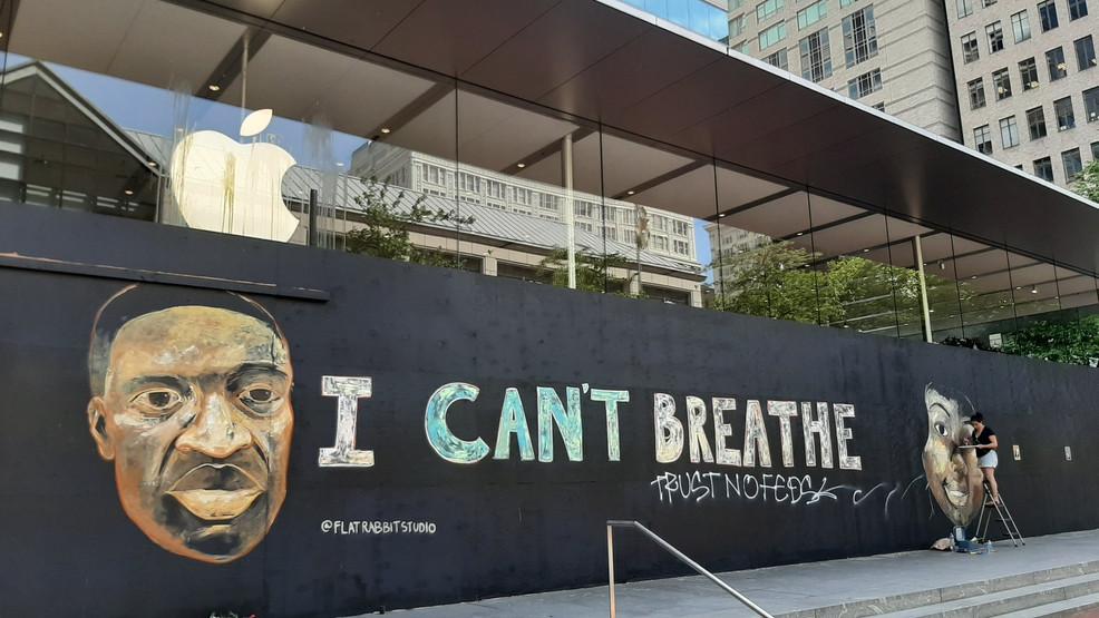 Mural Honors George Floyd In Downtown Portland Katu