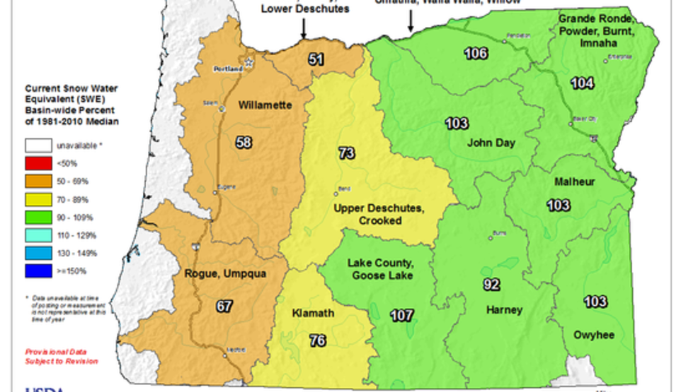 Western Oregon could use winter weather as snowpack remains well ...
